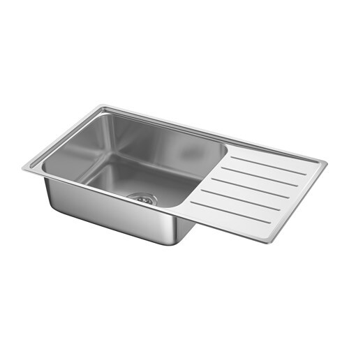 VATTUDALEN Lavello incasso, 1 vasca/sgocciolat - IKEA