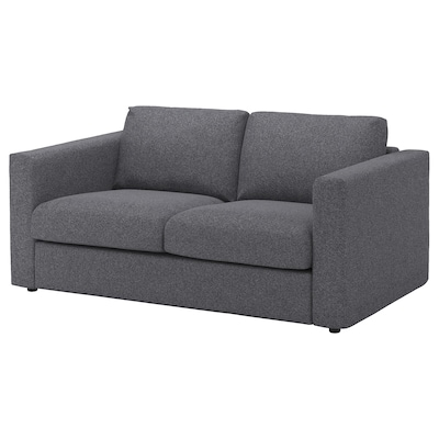 VIMLE divano a 2 posti Gunnared grigio fumo 83 cm 68 cm 171 cm 98 cm 6 cm 15 cm 141 cm 55 cm 48 cm