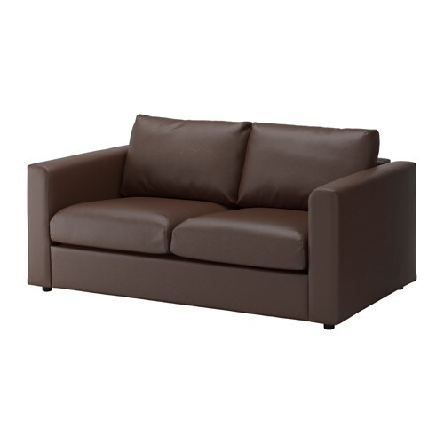 vimle divano a 2 posti farsta marrone scuro ikea