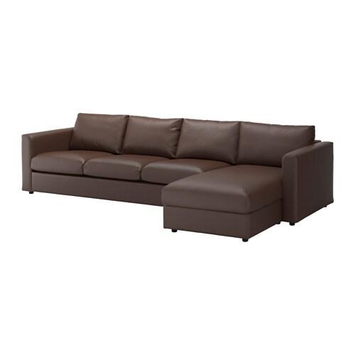 Vimle divano a 4 posti con chaise longue farsta marrone scuro ikea - Divano 4 posti con chaise longue ...