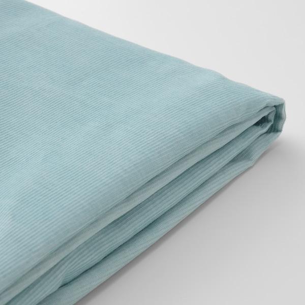 VIMLE Fodera per divano angolare, 5 posti, con braccioli larghi/Saxemara azzurro