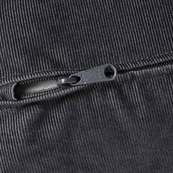 VIMLE Fodera per divano angolare, 5 posti, con braccioli larghi/Saxemara blu-nero