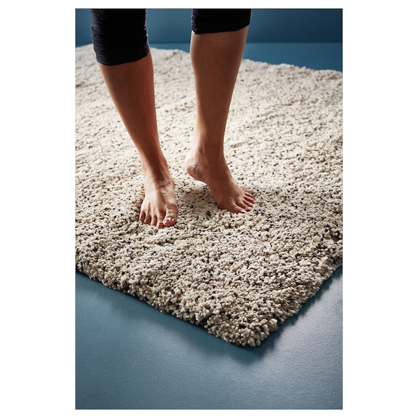 VINDUM Tappeto, pelo lungo, bianco, 170x230 cm