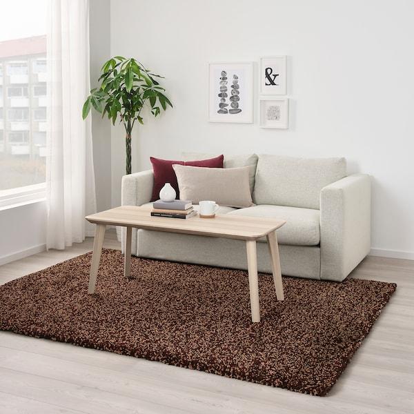 VINDUM Tappeto, pelo lungo, marrone, 170x230 cm