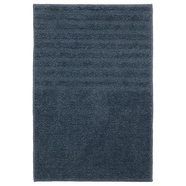VINNFAR Tappeto per bagno, blu scuro, 40x60 cm
