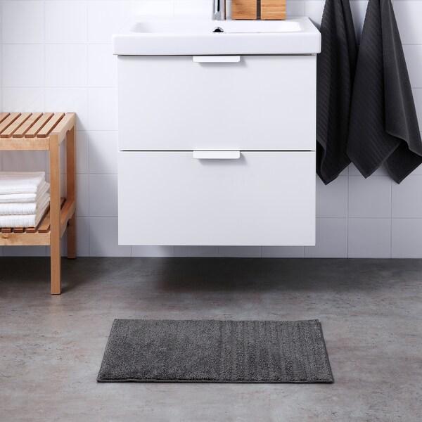VINNFAR Tappeto per bagno, grigio scuro, 40x60 cm