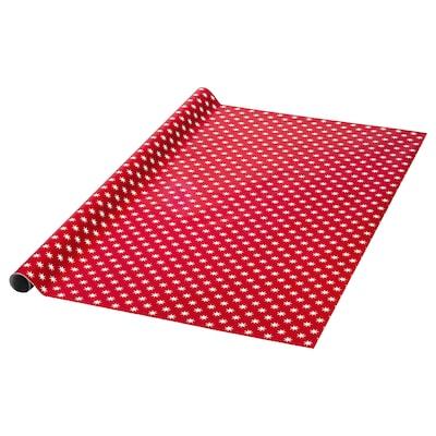 VINTER 2020 Carta regalo, motivo a stella rosso, 4x1 m
