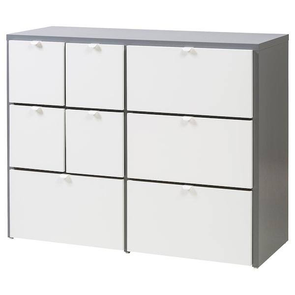 Cassettiere Di Plastica Ikea.Visthus Cassettiera Con 8 Cassetti Grigio Bianco Ikea Svizzera