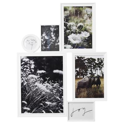 VITABY Cornice per 6 fotografie, bianco