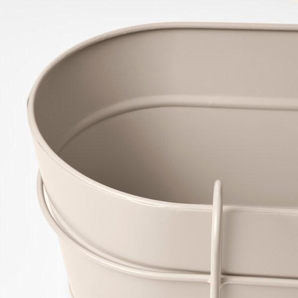 VITLÖK Fioriera con supporto, da interno/esterno beige, 56x20 cm