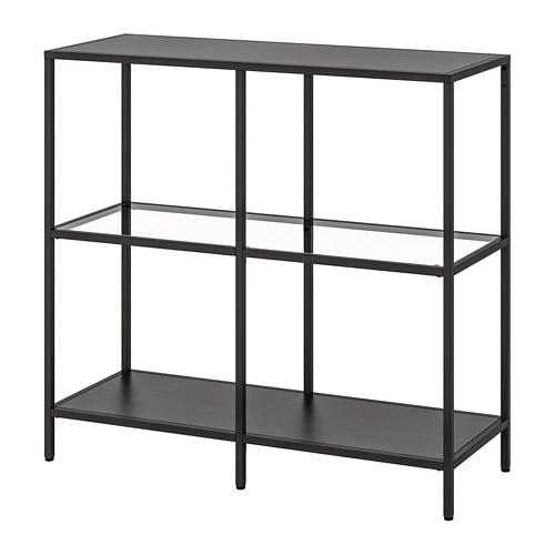 Ikea Scaffali Di Metallo.Vittsjo Scaffale Marrone Nero Vetro