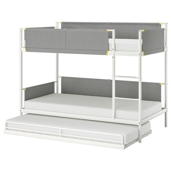 Letti A Castello 3 Posti Ikea.Vitval Strut Letto Castello Letto Supplem Bianco Grigio Chiaro