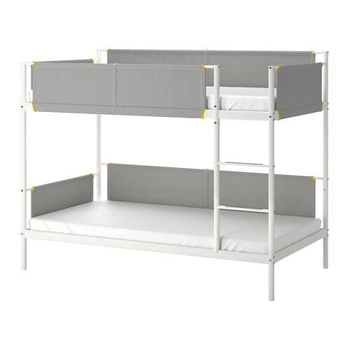 Letti A Castello 3 Posti Ikea.Vitval Struttura Per Letto A Castello Bianco Grigio Chiaro