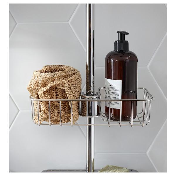 VOXNAN Mensolina per doccia, cromato, 25x6 cm