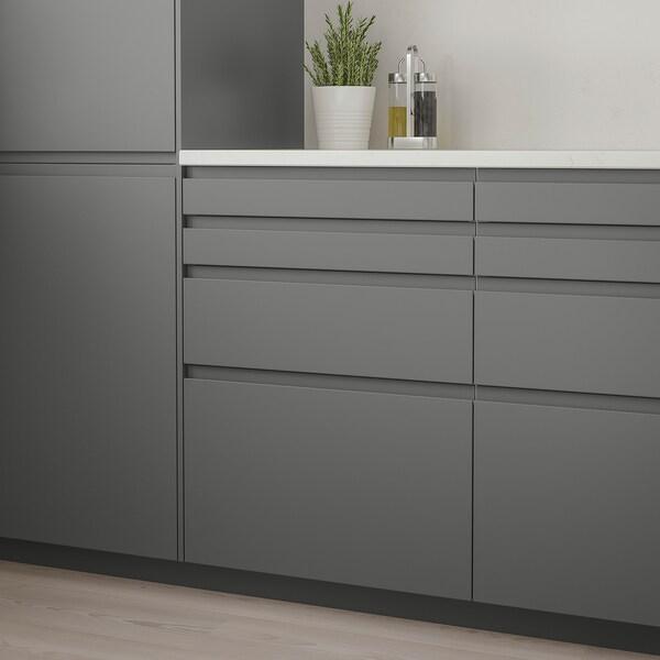 VOXTORP Frontale cassetto, grigio scuro, 80x10 cm