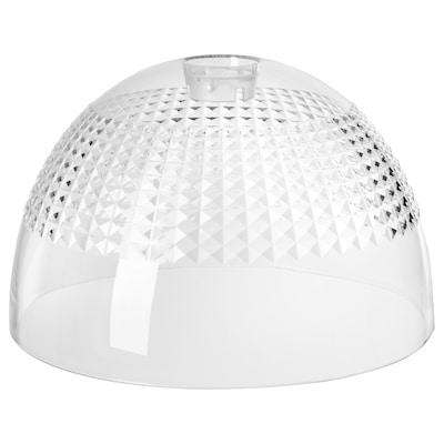 ACKLINGA stínidlo závěsné lampy transparentní/čtverečkovaný povrch 38 cm 38 cm 24 cm 38 cm