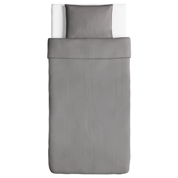 ÄNGSLILJA povlečení na jednolůžko šedá 125 Palec²  1 ks 200 cm 150 cm 50 cm 60 cm