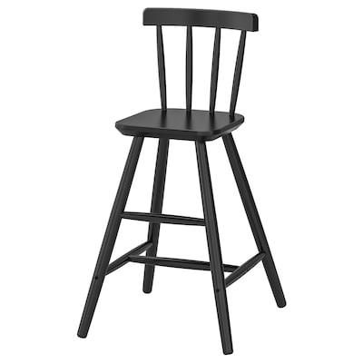 AGAM dětská židle černá 41 cm 43 cm 79 cm 28 cm 29 cm 52 cm