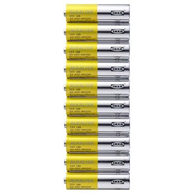 ALKALISK Alkalické baterie, LR6 AA 1.5V