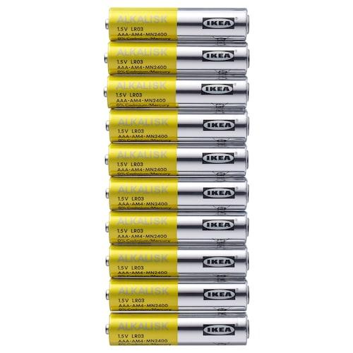IKEA ALKALISK Alkalické baterie