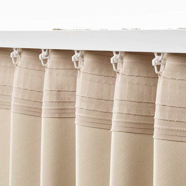 ANNAKAJSA zatemňovací závěsy, 1 pár béžová 300 cm 145 cm 3.99 kg 4.35 m² 2 ks