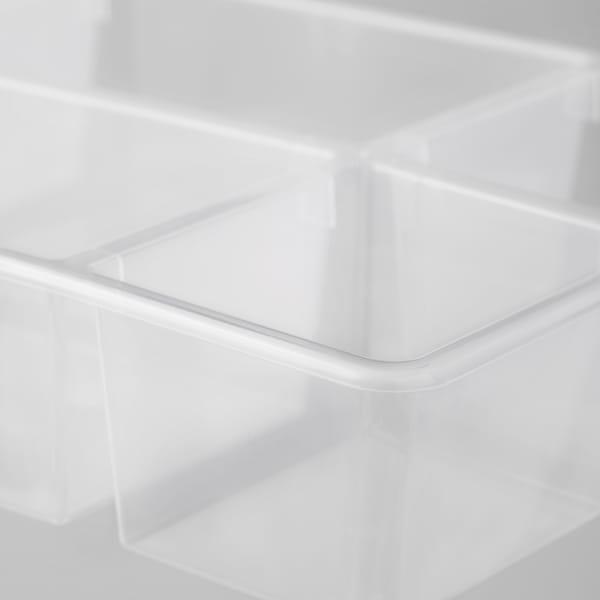 ANTONIUS Vložka do koše, transparentní, 37x24x7 cm