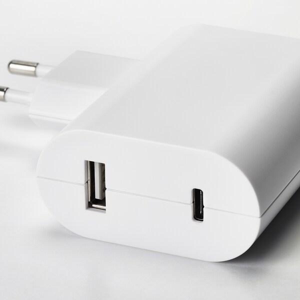 ÅSKSTORM Nabíječka USB, 23 W, bílá