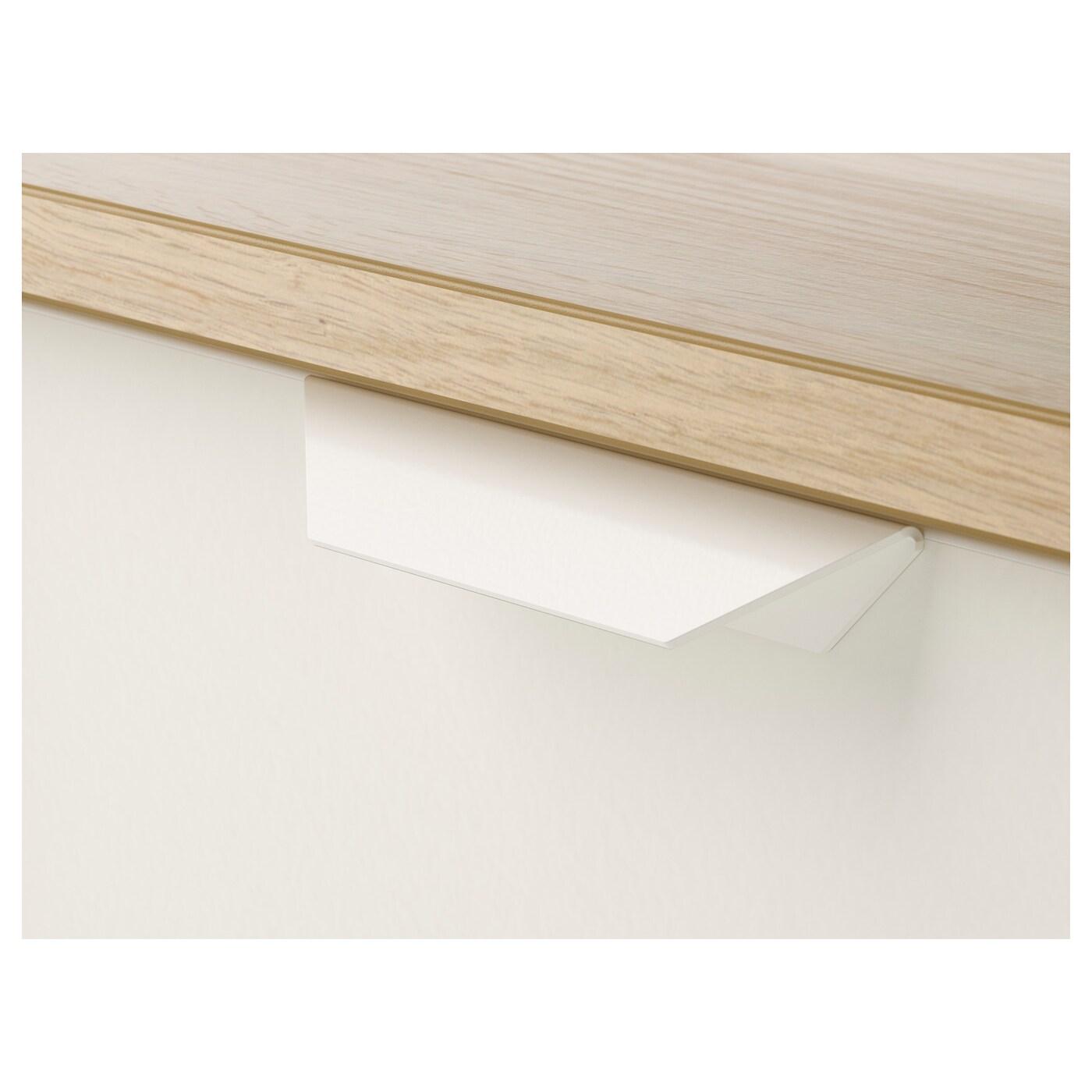ASKVOLL Komoda se 3 zásuvkami, vz. bíle moř. dub/bílá, 70x68 cm