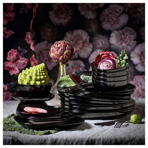 BACKIG dezertní talíř černá 18 cm 18 cm 4 ks