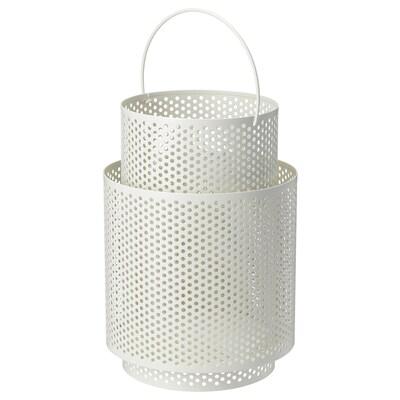 BEHÄRSKA lucerna na svíčku bílá 26 cm
