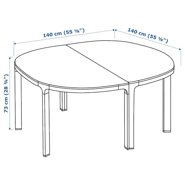 BEKANT konferenční stůl 140 cm 140 cm 73 cm 140 cm 100 kg