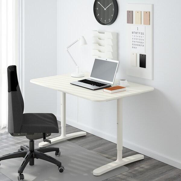 BEKANT Rám pro stolní desku, bílá, 120x80 cm