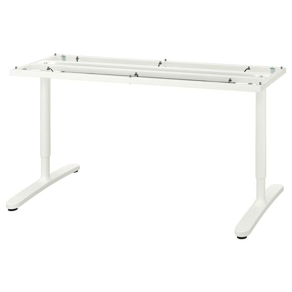 BEKANT rám pro stolní desku bílá 46 cm 146 cm 160 cm 80 cm 65 cm 85 cm 100 kg