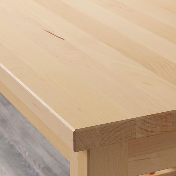 BEKVÄM Kuch. servírovací stolek, bříza, 58x50 cm