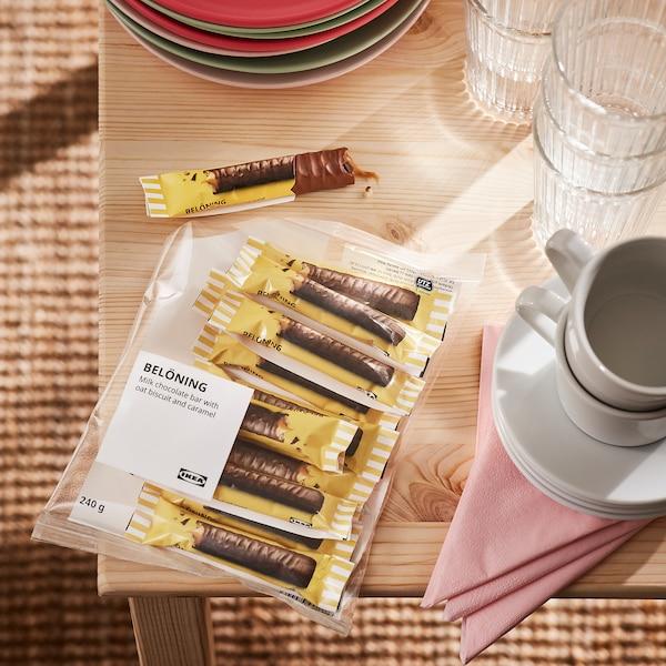 BELÖNING Tyčinka čokol./karamel, oves a karamel certifikát UTZ, 240 g