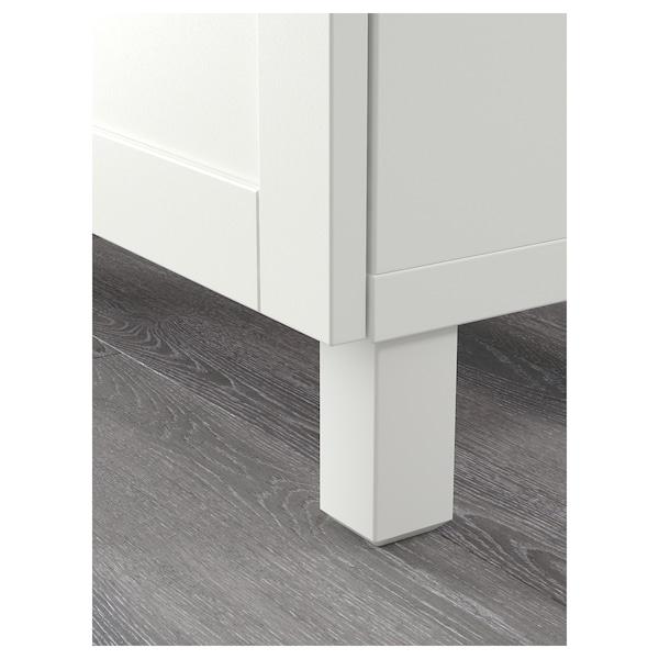BESTÅ Úlož.sestava s dvířky/zásuvkami, bílá/Hanviken/Stubbarp bílé čiré sklo, 120x42x240 cm