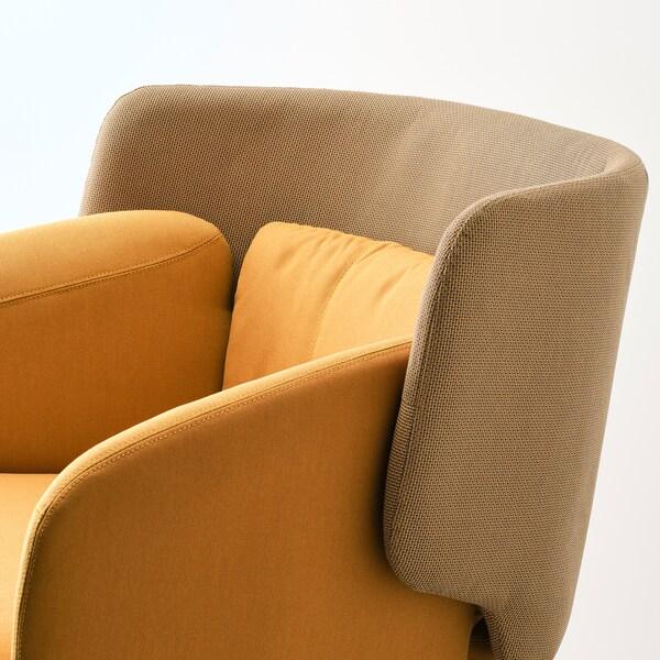 BINGSTA křeslo Vissle tmavě žlutá/Kabusa tmavě žlutá 70 cm 58 cm 76 cm 33 cm 45 cm