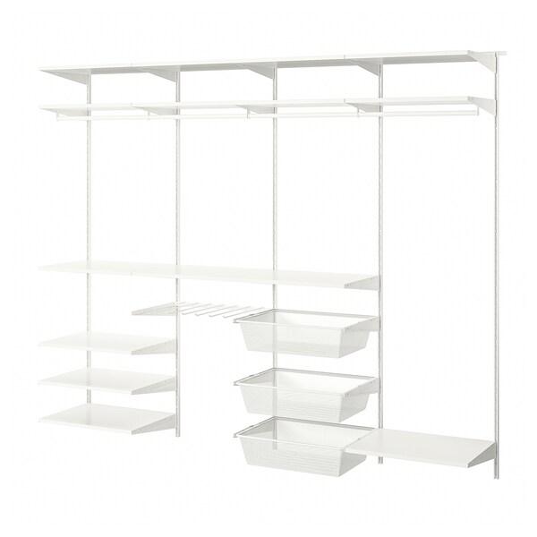 BOAXEL 4 části, bílá, 242x40x201 cm