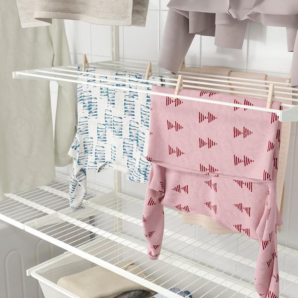 BOAXEL Sestava na praní prádla, bílá, 165x40x201 cm