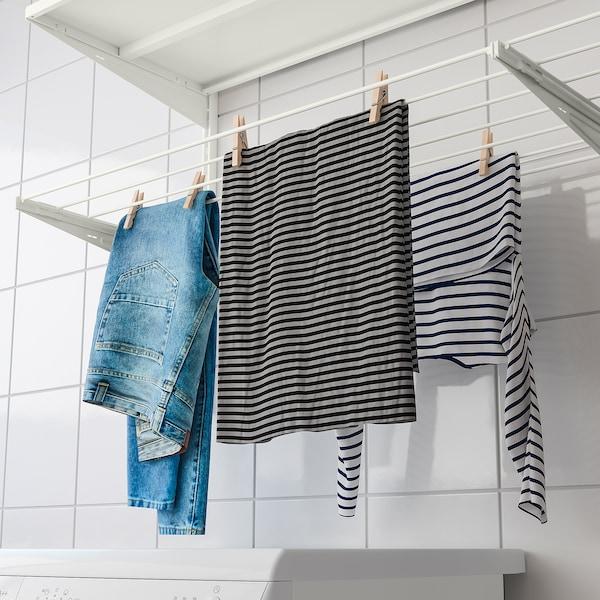 BOAXEL Sestava na praní prádla, bílá, 227x40x101 cm