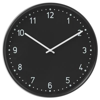 BONDIS Nástěnné hodiny, černá