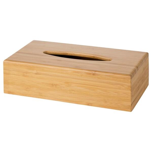 BONDLIAN krabička na kapesníky bambus 26 cm 14 cm 7 cm
