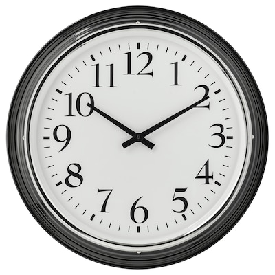 BRAVUR Nástěnné hodiny, černá