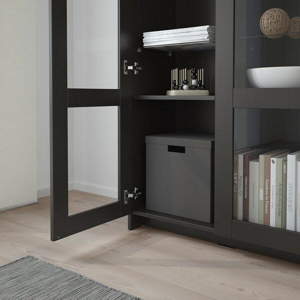 BRIMNES Vitrína, černá, 80x190 cm