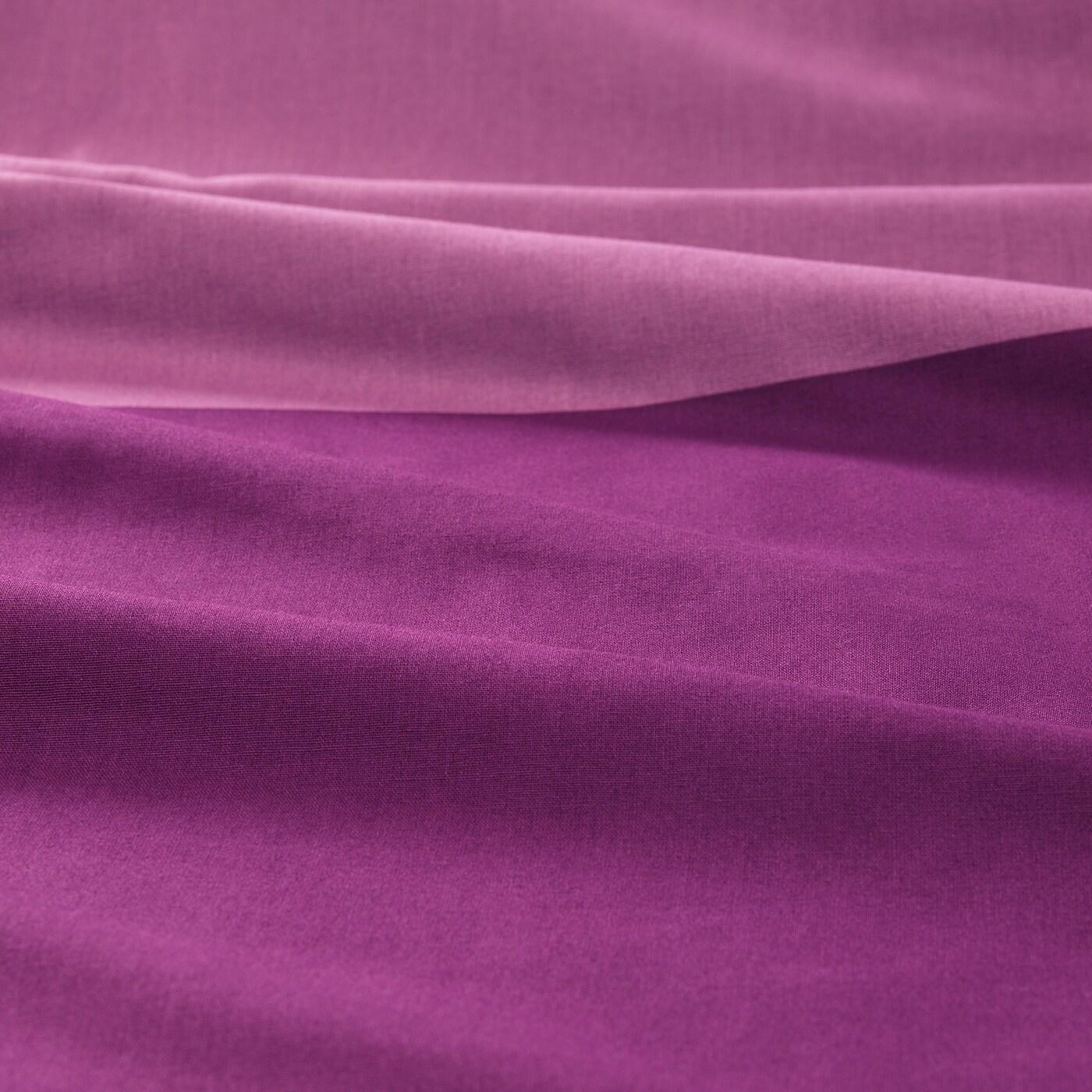 BRUNKRISSLA povlečení na dvoulůžko fialová 152 Palec²  2 ks 200 cm 200 cm 50 cm 60 cm