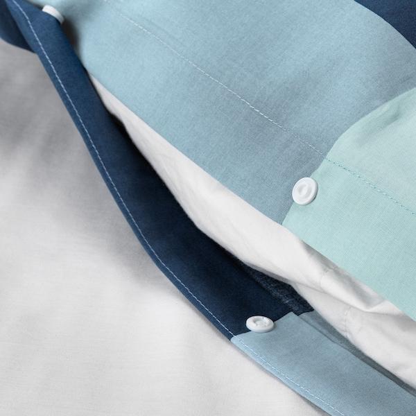BRUNKRISSLA povlečení na jednolůžko modrá/šedá 1 ks 200 cm 150 cm 50 cm 60 cm