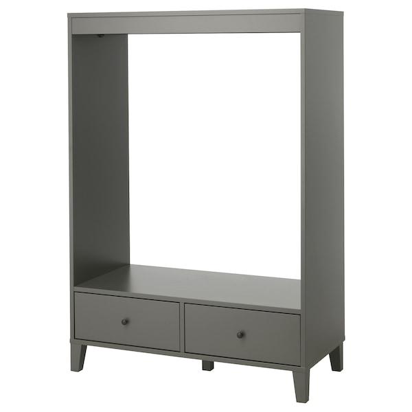 BRYGGJA otevřená šatní skříň tmavě šedá 120 cm 57 cm 173 cm
