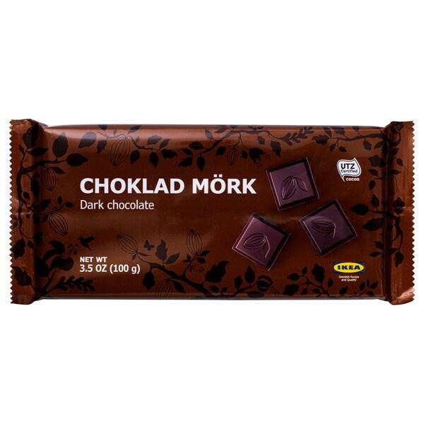 CHOKLAD MÖRK Hořká čokoláda, certifikát UTZ