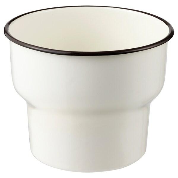 CITRONSYRA Květináč, vn./venkovní/bílá, 15 cm