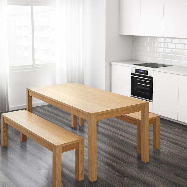 DAGLYSA Stůl, dýha dub, 178x90 cm